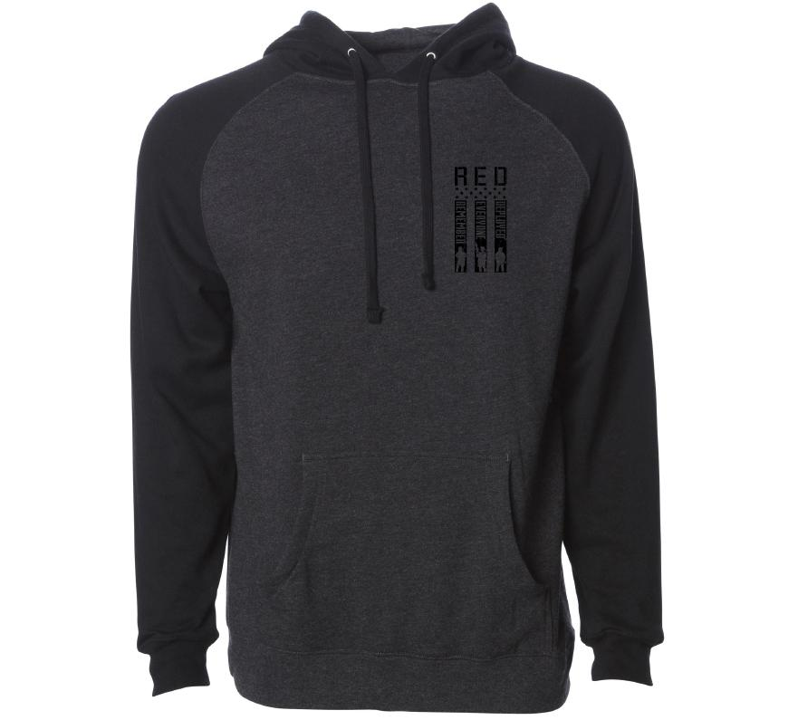 Mens Hooded Sweatshirts - Red Remember Po Hood
