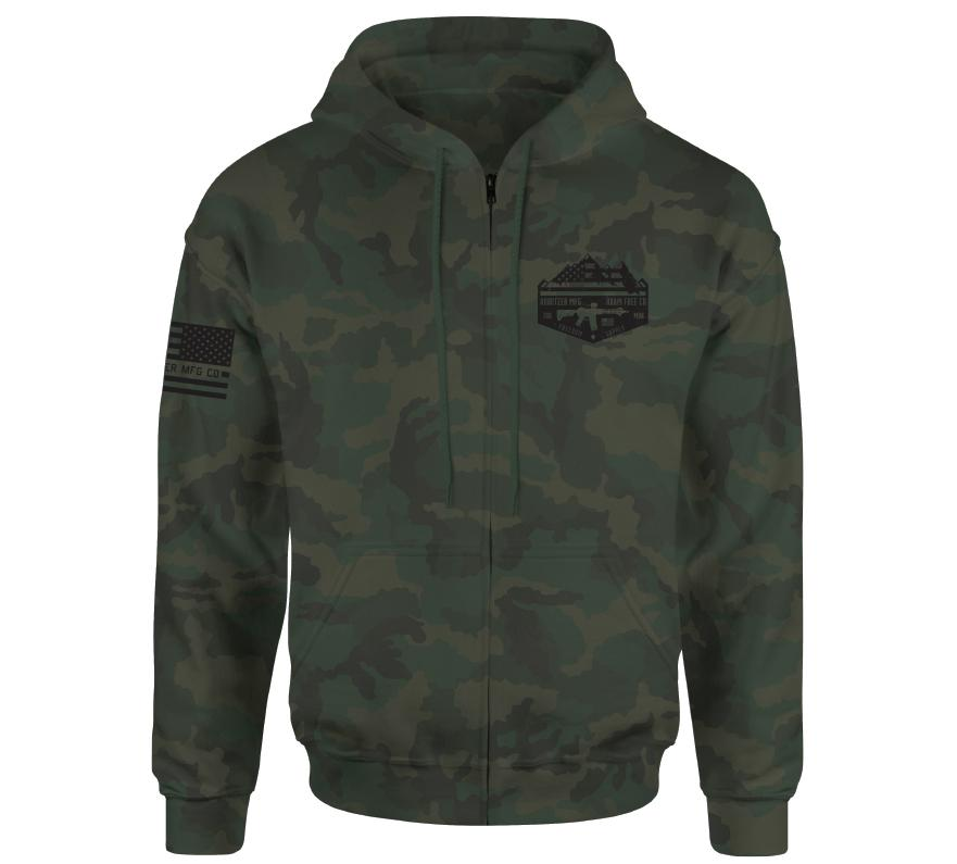 Roam Free Co Zip Hood - Howitzer Clothing