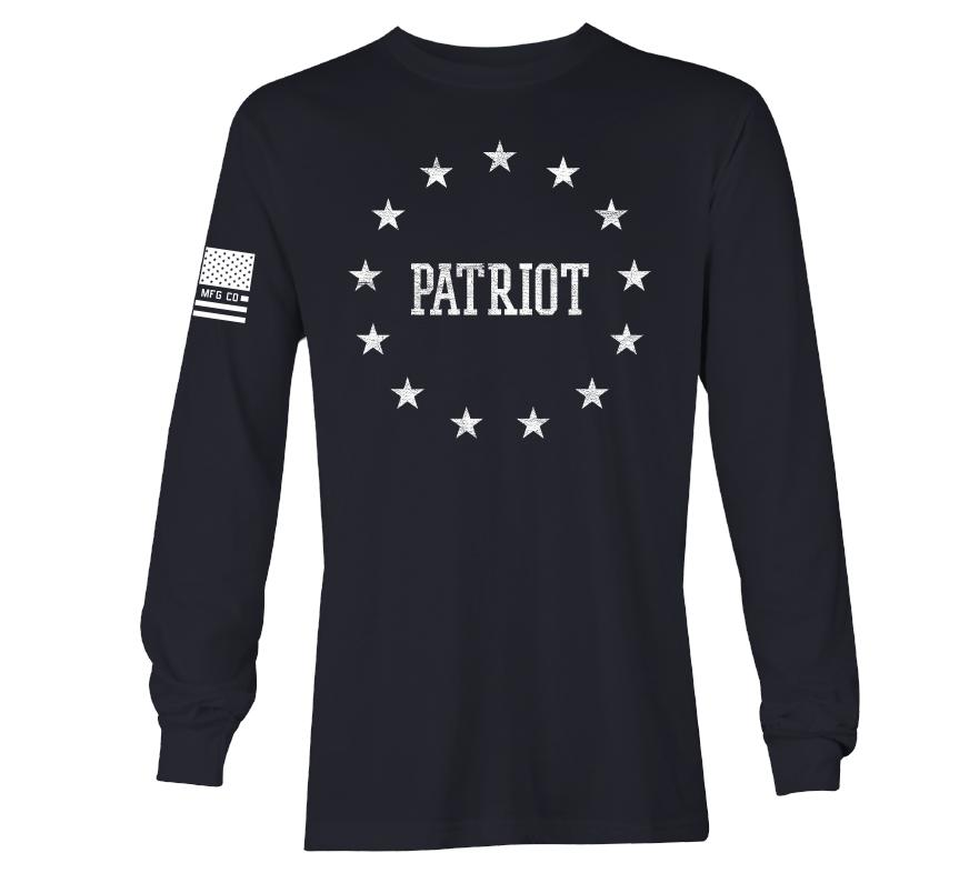 Mens Long Sleeve Tees - Circle Patriot