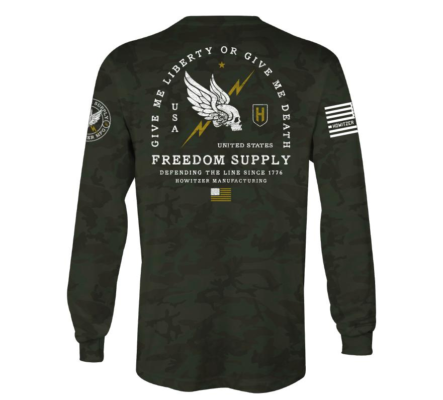 Mens Long Sleeve Tees - Freedom Line