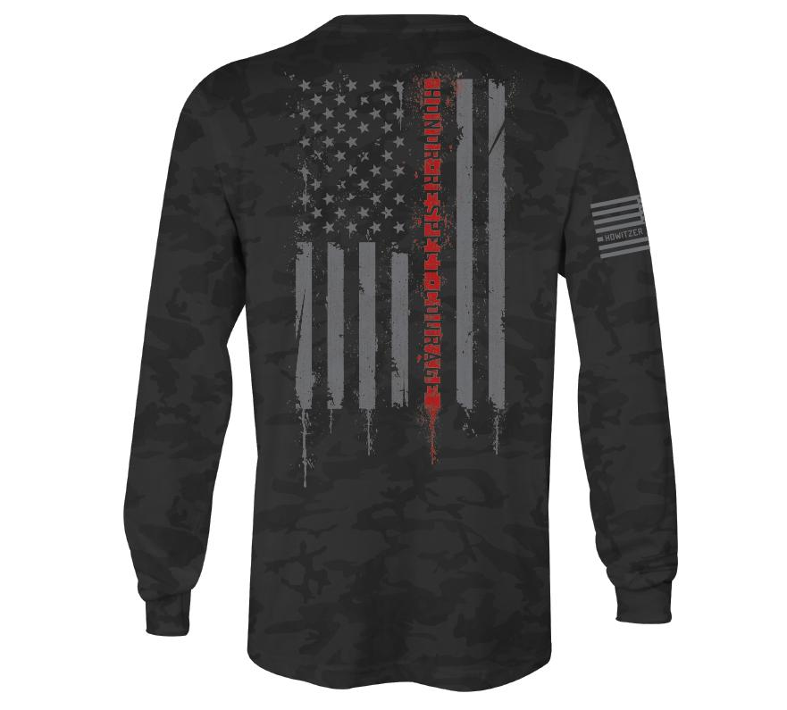 Mens Long Sleeve Tees - Respect Fire