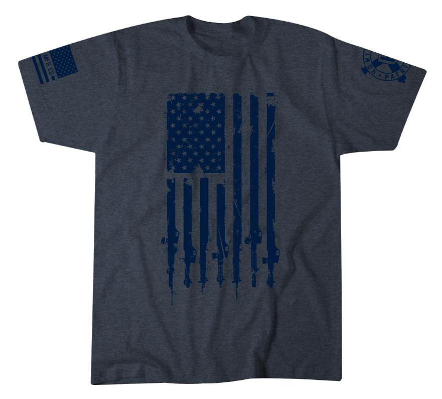 Mens Short Sleeve Tees - Freedom Flag