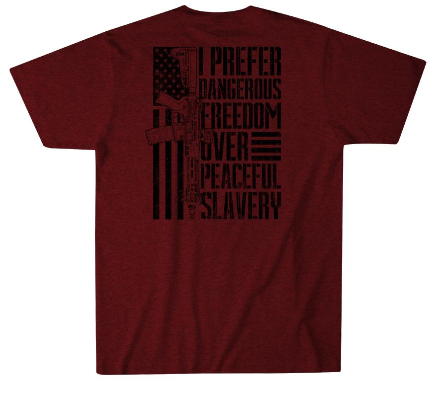 Mens Short Sleeve Tees - Freedom Over