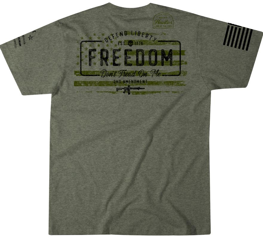 Mens Short Sleeve Tees - Freedom Stamp
