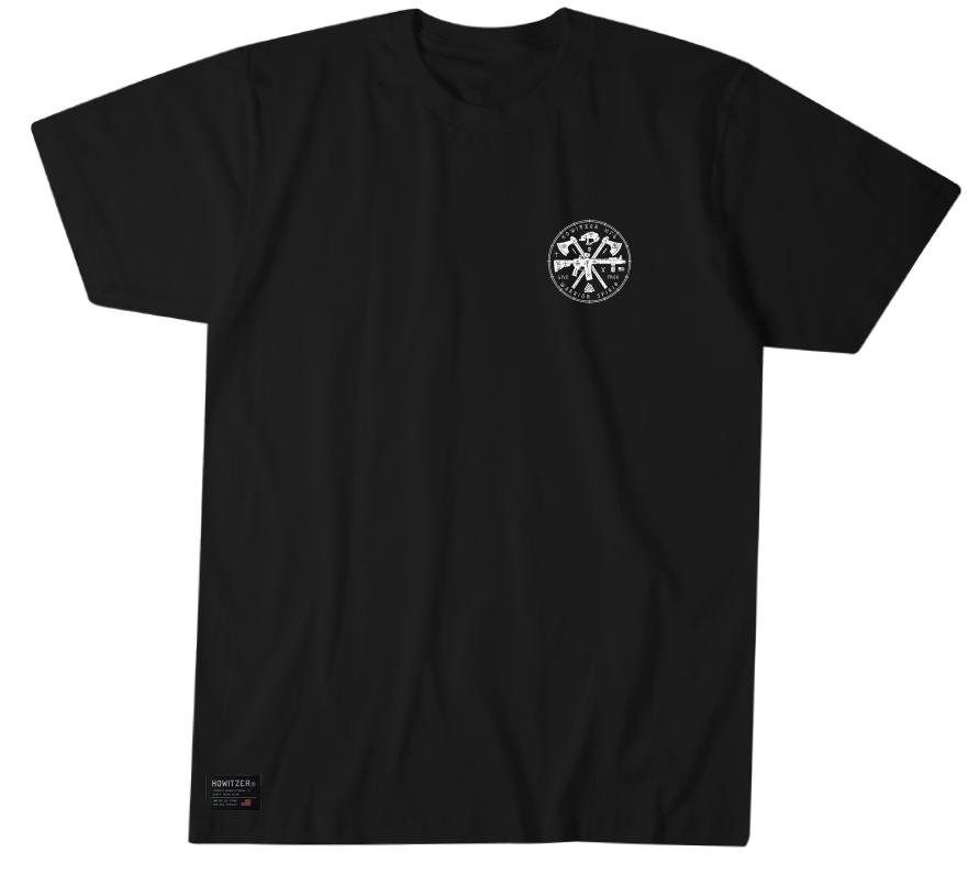 Mens Short Sleeve Tees - Howitzer Warrior