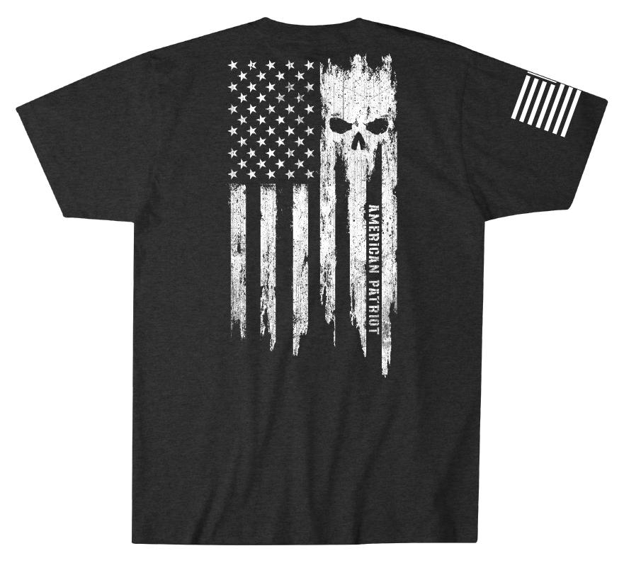 Mens Short Sleeve Tees - Patriot Torn