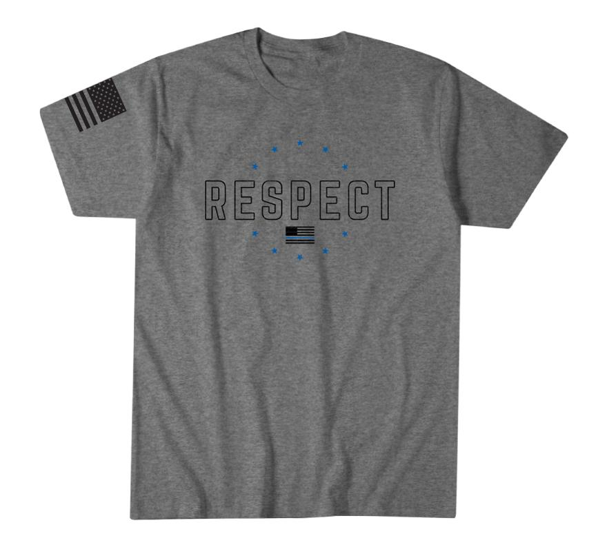 Mens Short Sleeve Tees - Respect Blue