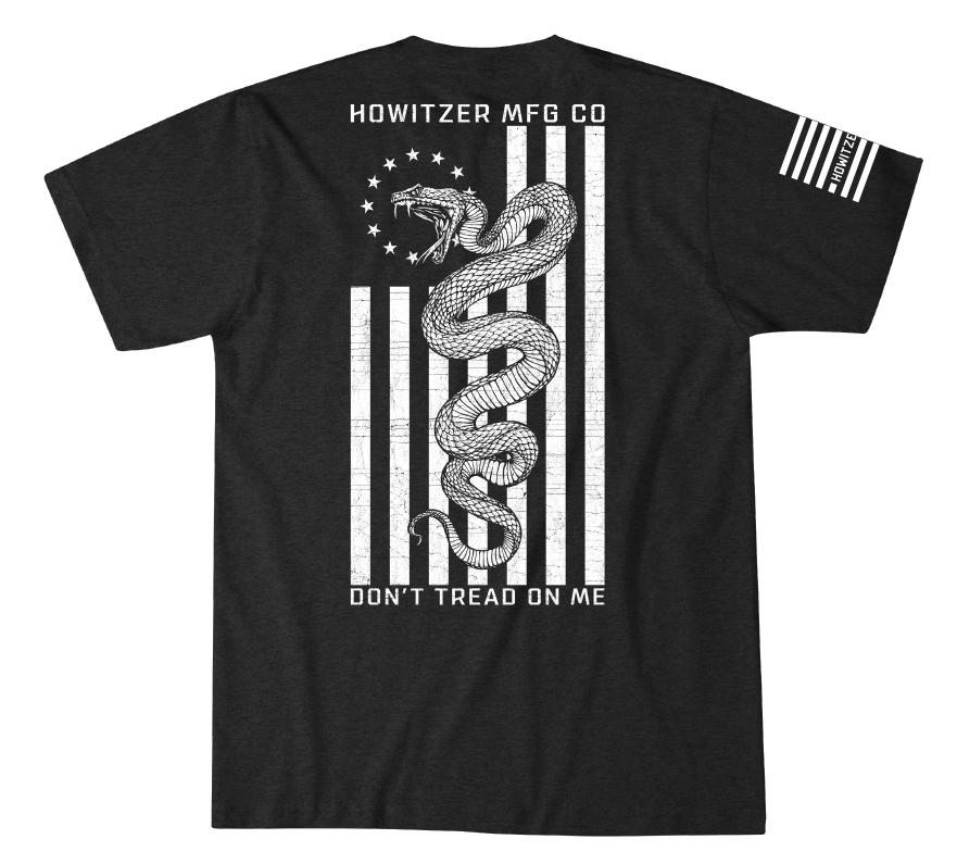 Mens Short Sleeve Tees - Snake Flag