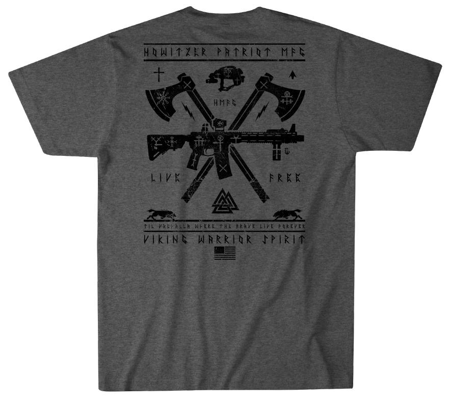 Mens Short Sleeve Tees - Viking Warrior