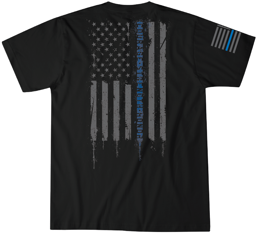 Back The Blue Short Sleeve Tee Howitzer Clothing