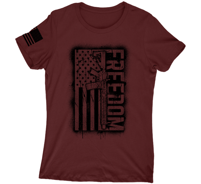 Freedom Flag Short Sleeve Tee Howitzer Clothing