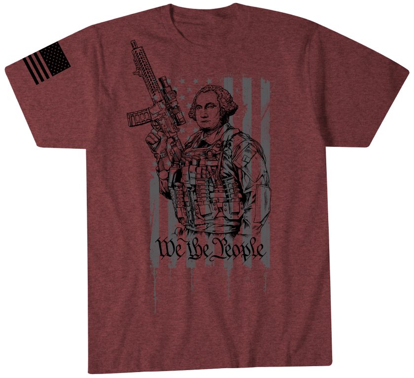 Washington Patriot Short Sleeve Tee Howitzer Clothing