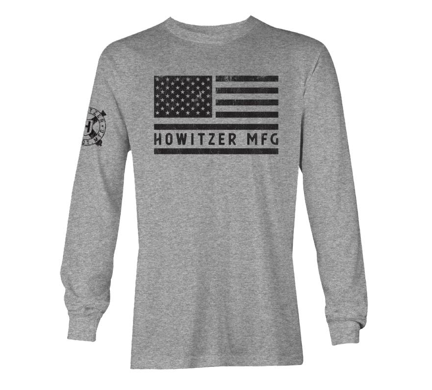 Womens Long Sleeve Tees - Bold Flag