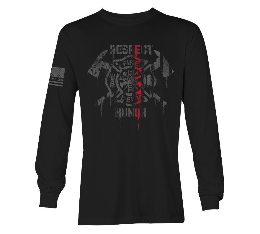 Womens Long Sleeve Tees - Red Courage