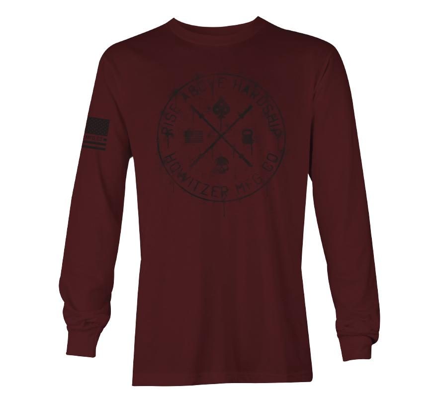 Womens Long Sleeve Tees - Rise Above Hardship