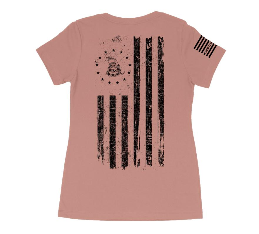 Womens Short Sleeve Tees - Tread Flag