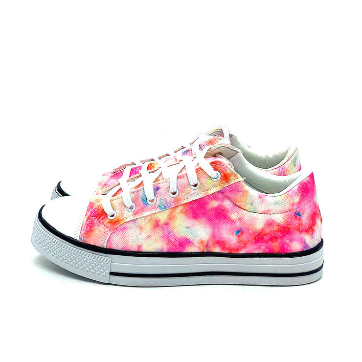 Tênis Casual Mary's Tie Dye Rosa