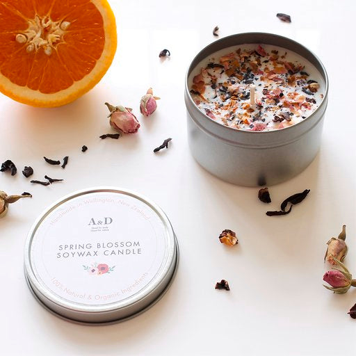 Spring blossom soy wax candle