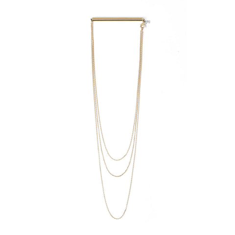 COMING SOON Unbound Twiggy - Gold Multi-color Whip Necklace