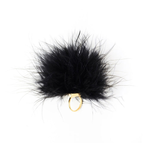 Unbound - Cleopatra Peacock Feather Tickler Ring