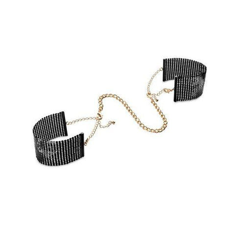 Desir Metallique - Gold Mesh Handcuffs - embracedesires  - 3