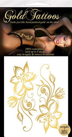 Gold Temporary Tattoos - embracedesires  - 1