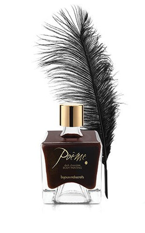 Poeme Dark Chocolate Body Paint by Bijoux Indiscrets 1.8 oz - embracedesires