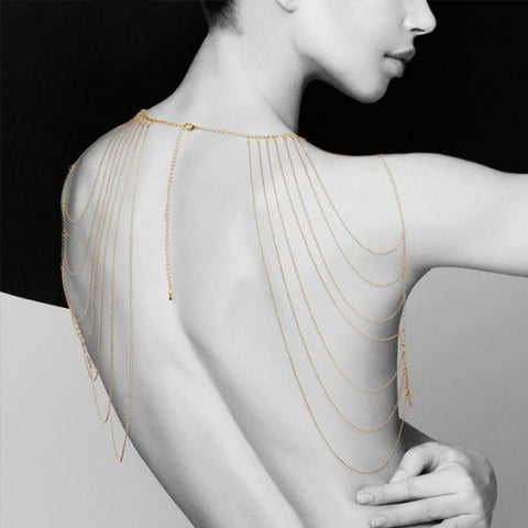 Magnifique Metallic Back and Shoulder Jewelry - embracedesires  - 1