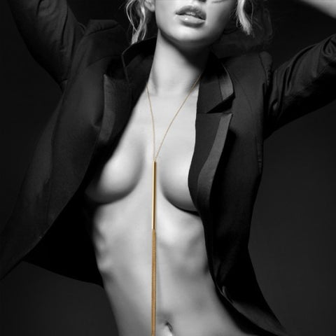 Magnifique Metallic Whip Necklace - embracedesires  - 1