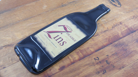 Wine Bottle Cheese Tray - 7 Deadly Zins - Bottle Crafters - 1