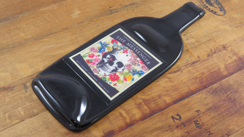 Slumped Wine Bottle Cheese Tray - The Messenger Cabernet - Bottle Crafters - 1