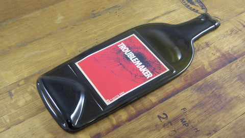 Slumped Wine Bottle - Troublemaker Wine - Bottle Crafters - 1