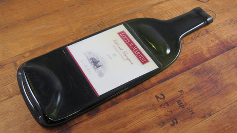 Wine Bottle Cheese Platter - Louis Martini Cabernet Spoon Rest - Bottle Crafters - 1