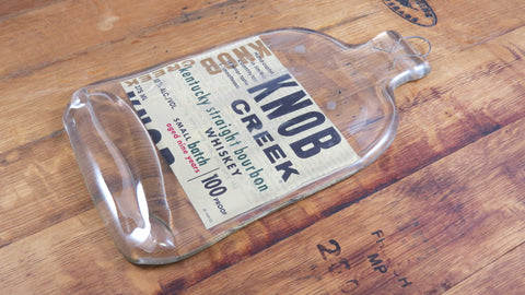 Flattened Bourbon Bottle - Knob Creek - Bottle Crafters - 1
