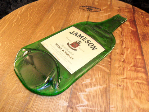 Flattened  Jameson Bottle with Label. - Bottle Crafters - 1