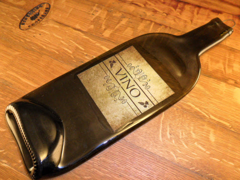 Flat Wine Bottle - Custom Vintage Label - Vino - Bottle Crafters - 1