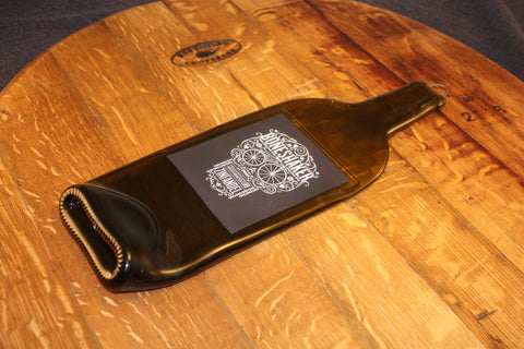 Wine Bottle Cheese Board - Boneshaker Zinfandel Label - Bottle Crafters - 1