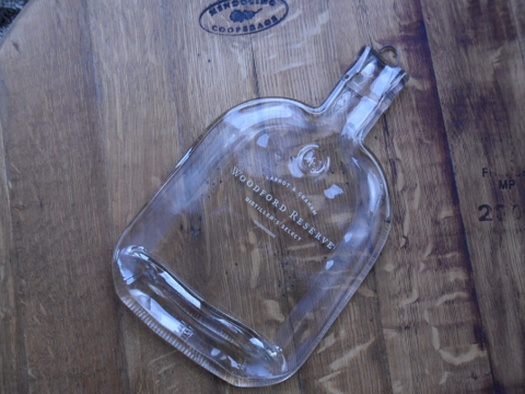 Woodford Reserve Slumped Bottle - Bottle Crafters - 1