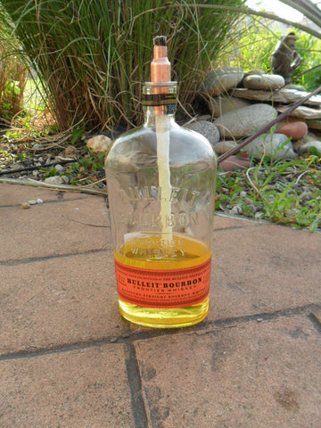 Table Top Tiki Torch - Bulleit Burbon - Bottle Crafters - 1