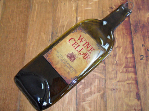 Melted Bottle - Wine Cellar, Ok it's the basement, just play along Label - Bottle Crafters - 1