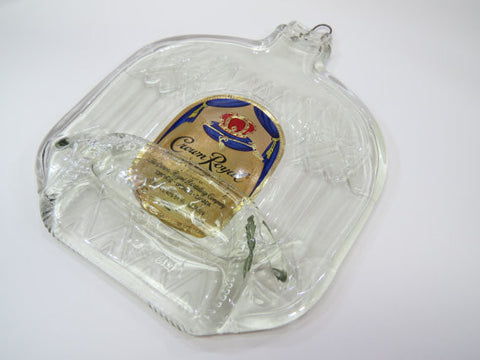 Crown Royal Bottle Melted Flat - Bottle Crafters - 1