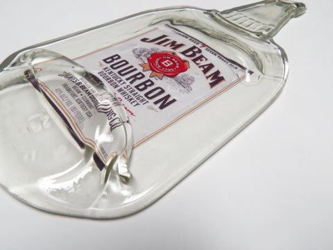 Slumped Liquor Bottle - Jim Beam Bourbon - Bottle Crafters - 1