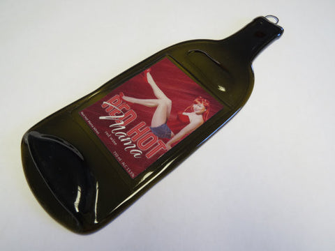 Melted Bottle Cheese Board - Red Hot Mamma Wine - Bottle Crafters - 1