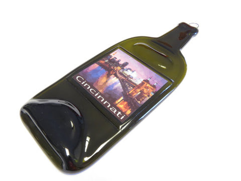 Melted Bottle - Cincinnati Skyline Art Print Watercolor Label - Bottle Crafters - 1