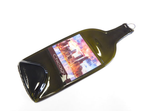 Slumped Bottle - Chicago Skyline Great Wall Hanging - Bottle Crafters - 1