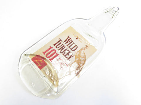 Melted Liquor Bottle - Wild Turkey 101 - Bottle Crafters - 1