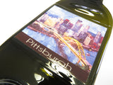 Flattened Bottle - Pittsburgh Pennsylvania Skyline Water Color Art Print - Bottle Crafters - 3