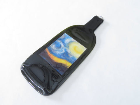 Slumped Wine Bottle - Starry Night Art Print - Bottle Crafters - 1
