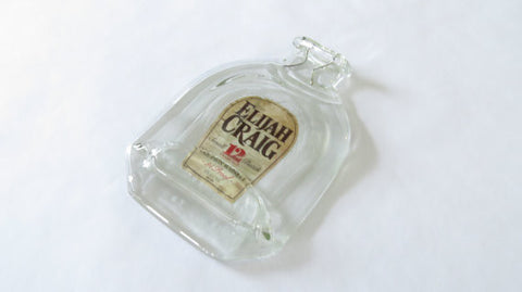 Flat Whiskey Bottle - Elijah Craig Bourbon - Bottle Crafters - 1