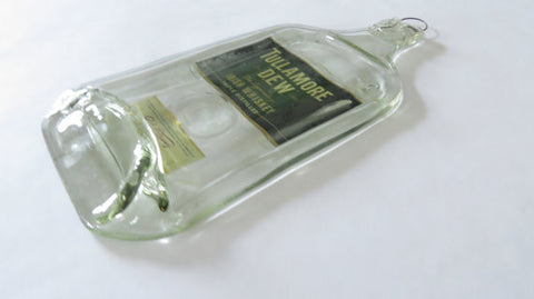 Flattened Whiskey Bottle - Tullamore Dew Irish Whiskey - Bottle Crafters - 1